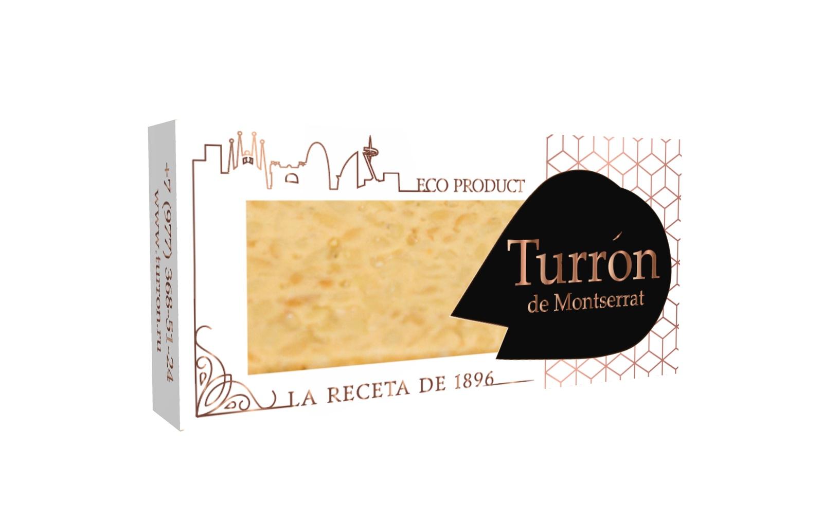 Щербет Turron de Montserrat Цельный Кедровый орех, фирменная коробка (100 гр)
