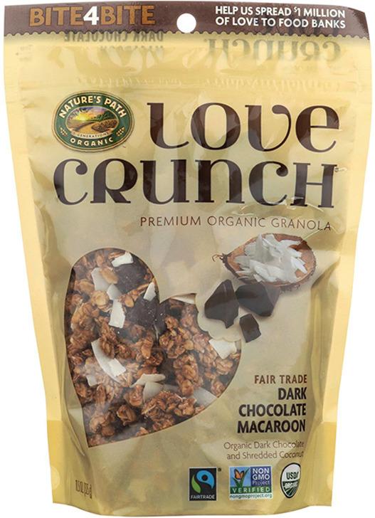 Гранола Nature's Path Love Crunch Dark Chocolate Macaroon, органическая, с темным шоколадом и кокосовой стружкой, 325 г