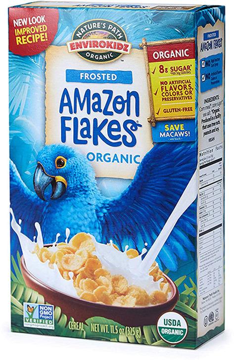 Готовый завтрак Nature's Path Хлопья Amazon Frosted Flakes, органические, кукурузные, глазированные, 325 г