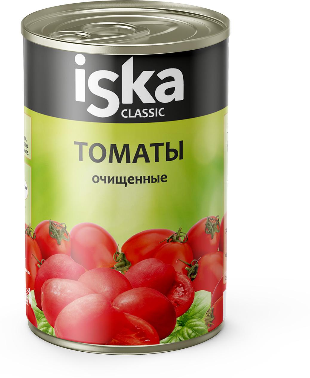 Овощные консервы ISKA Томаты, очищенные, целые, 400 г овощные консервы iska томаты очищенные целые 400 г