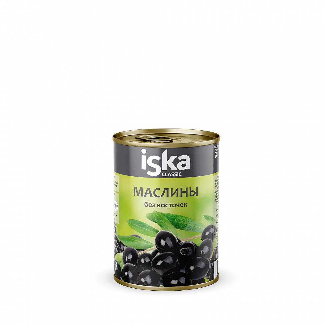 Овощные консервы ISKA Маслины черные, 280 г овощные консервы iska томаты очищенные целые 400 г