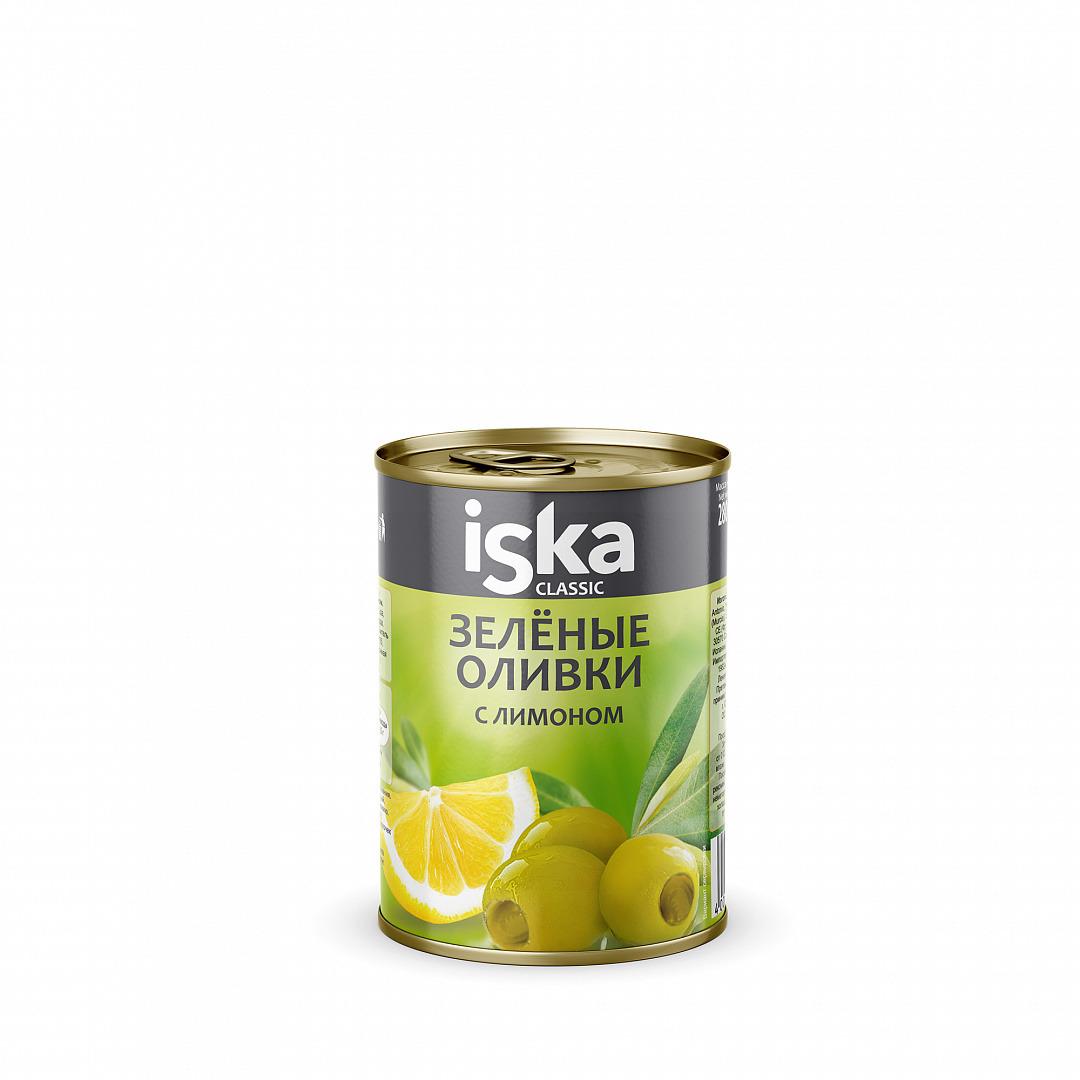 Овощные консервы ISKA Оливки зеленые с лимоном, 280 г платье iska платье