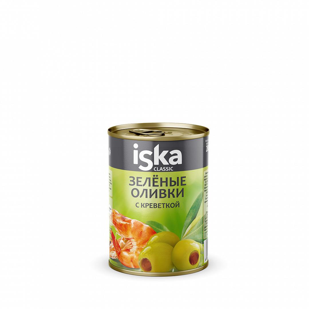 Овощные консервы ISKA Оливки зеленые с креветкой, 280 г платье iska платье
