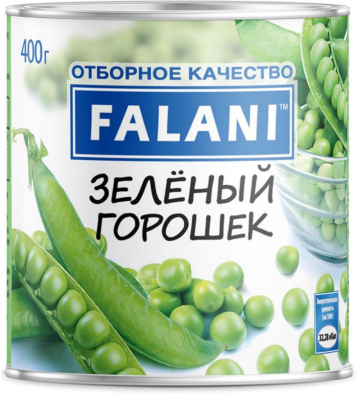 Овощные консервы Falani Горошек зеленый, 400 г