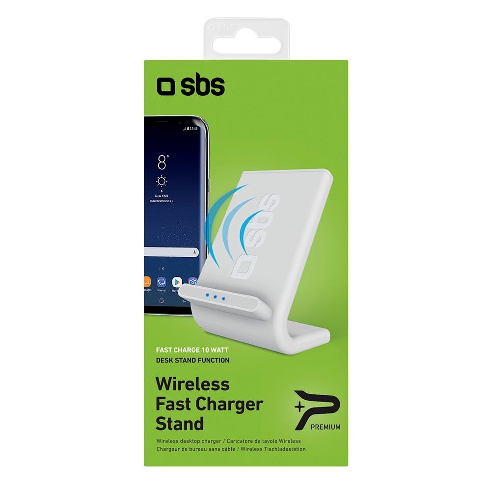 Беспроводное зарядное устройство, SBS, 10 Вт, белый