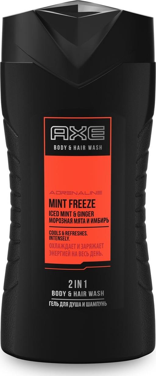 Axe Гель для душа и шампунь Морозная мята, 250 мл шампунь гель для волос и тела axe gold 250 мл 67323608