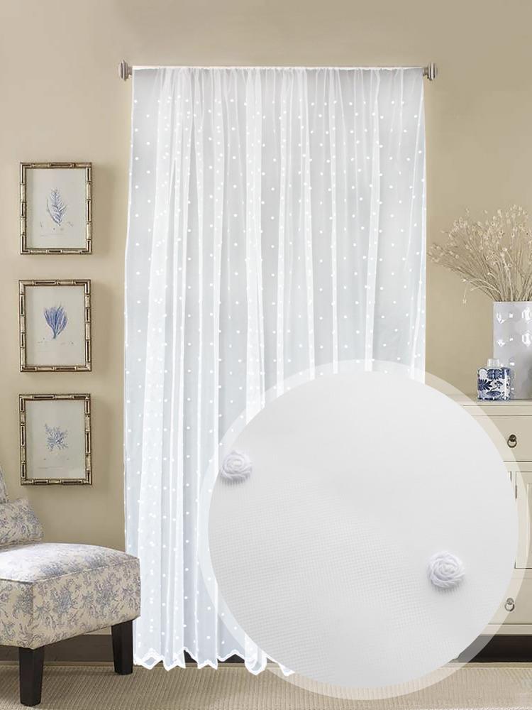 Тюль Amore Mio, RR 161493, белый, высота 270 см цена