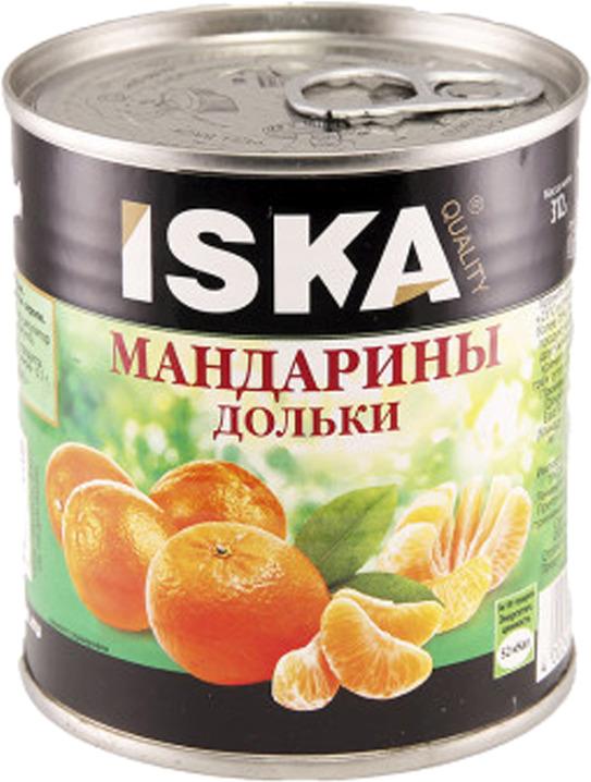 Фруктовые консервы ISKA Мандарины, 300 г mikado мандарины дольками в сиропе 425 мл