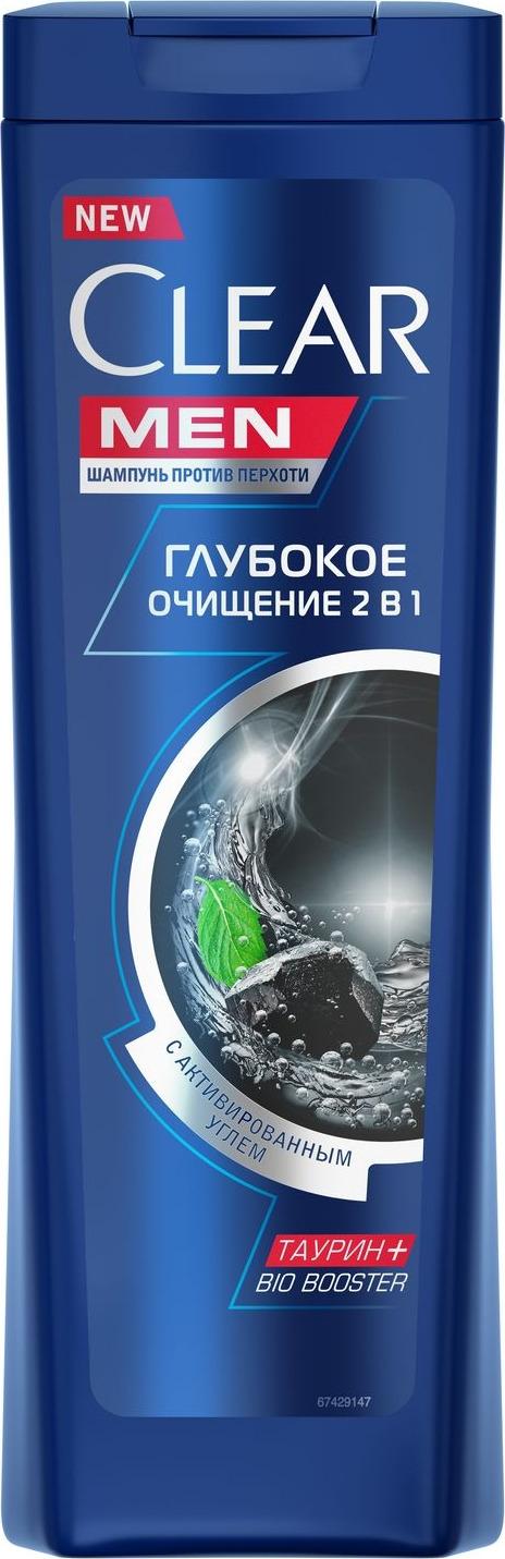 Clear Men Шампунь-бальзам против перхоти Глубокое очищение 400 мл цена в Москве и Питере
