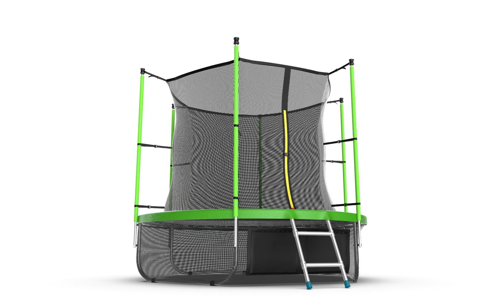 Батут с внутренней сеткой и лестницей, EVO JUMP Internal 8ft (Green) батут 8ft 2 44м