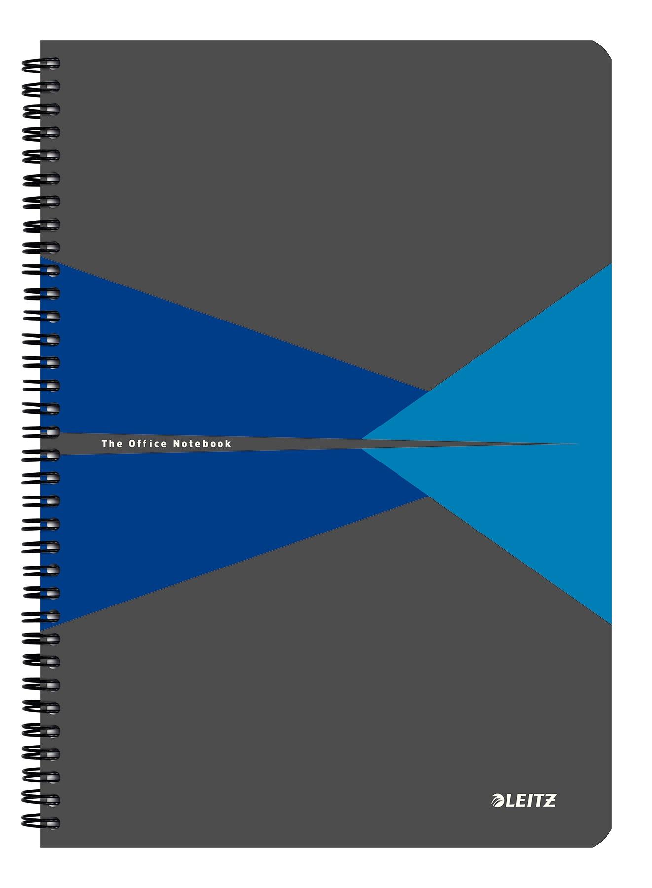 Блокнот Leitz office А4, в клетку, синий, 90 листов блокнот moleskine volant qp723b12b11 large 130х210мм 96стр нелинованный мягкая обложка синий темно синий 2шт