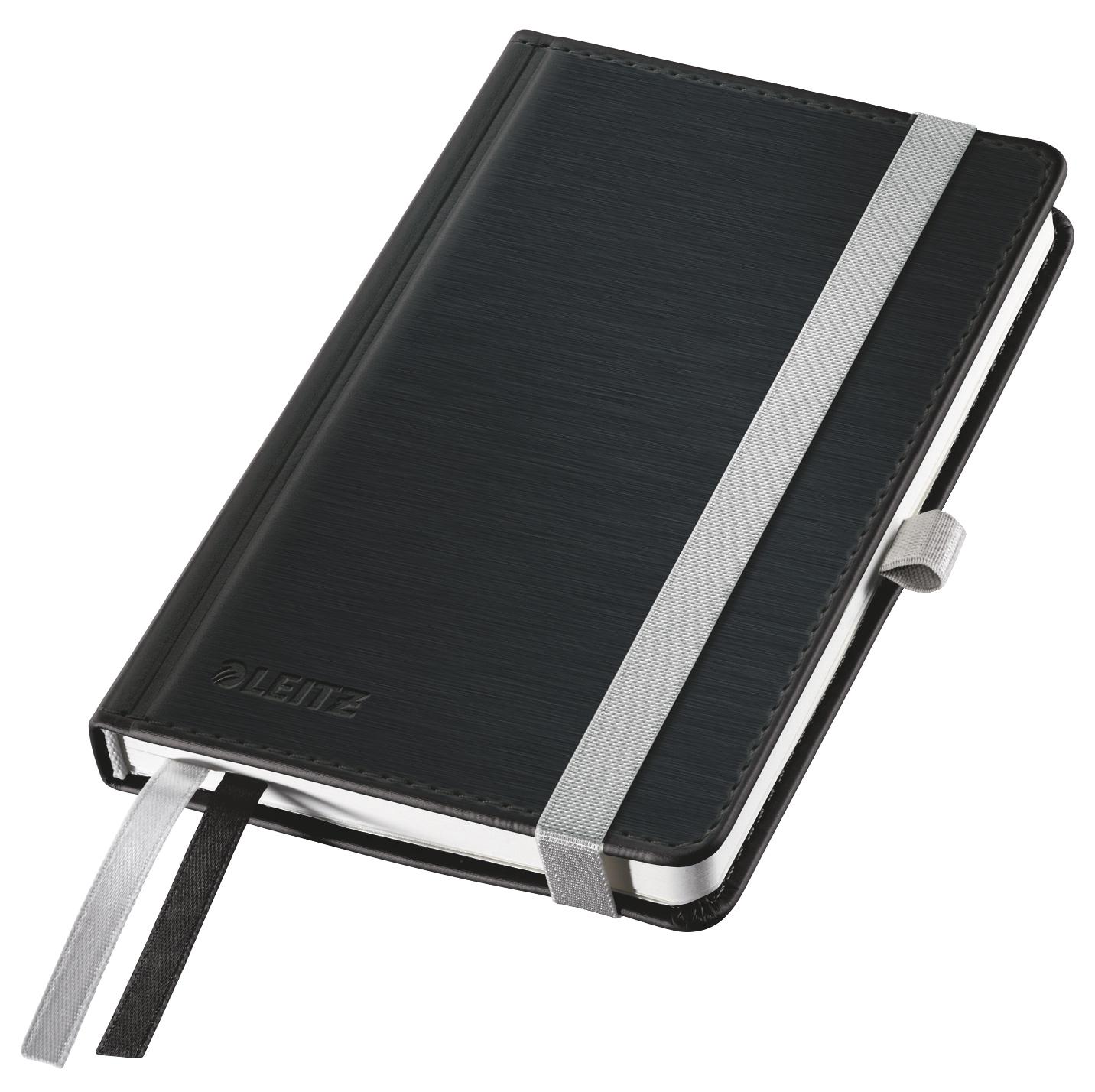 Записная книжка Leitz Записная книга Style, А6, клетка, черный сталь, 80 листов
