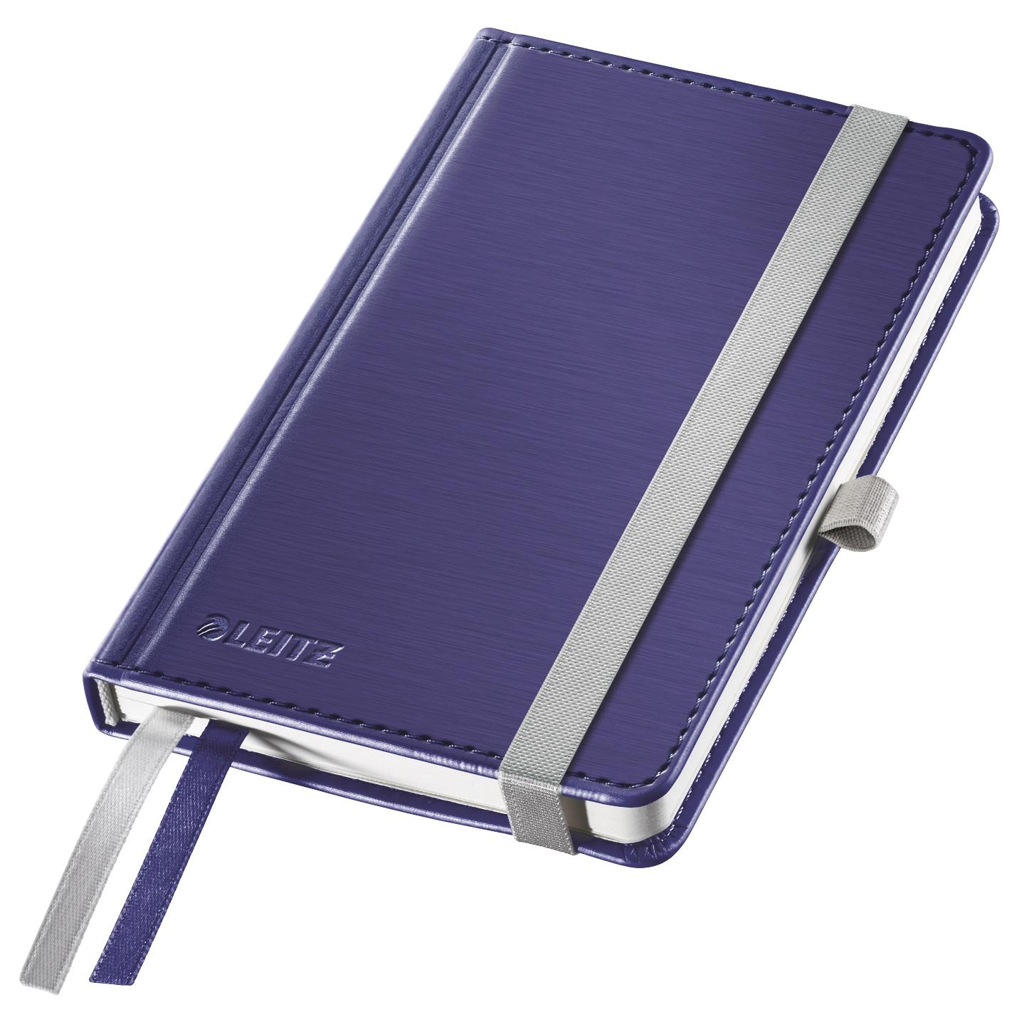 Записная книжка Leitz Записная книга Style, А6, клетка, синий титан, 80 листов