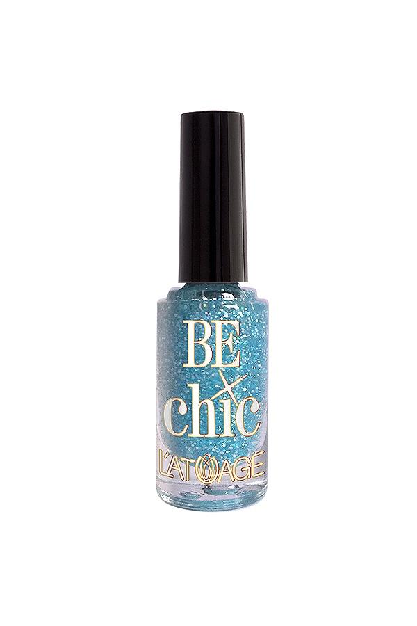 Лак для ногтей Latuage Cosmetic Тон 709, BE CHIC нежно голубые блестки 8,5 г