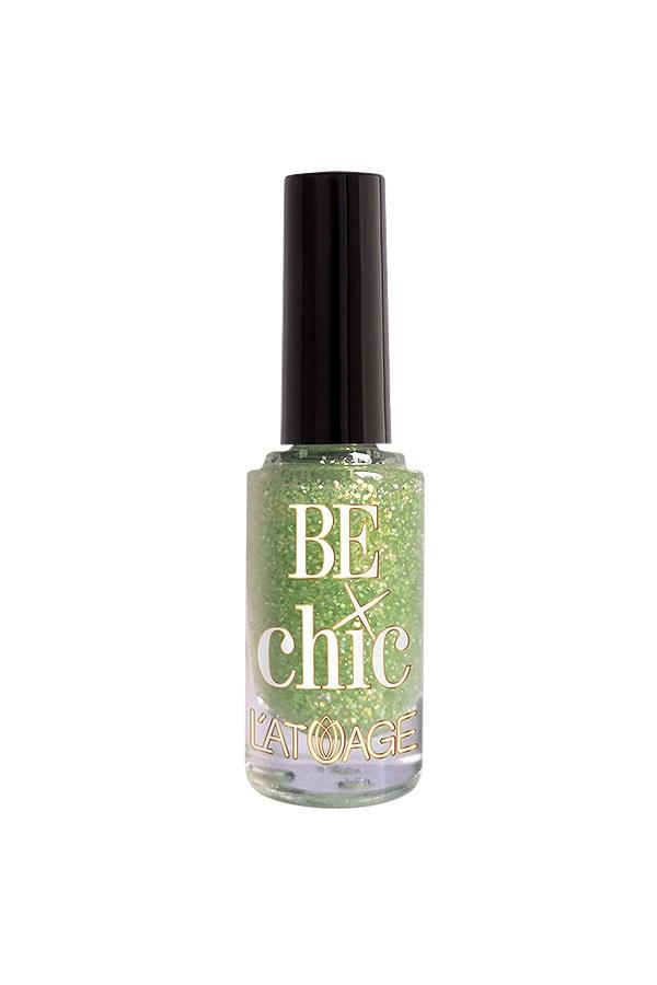 Лак для ногтей Latuage Cosmetic Тон 710, BE CHIC нежно салатовые блестки 8,5 г