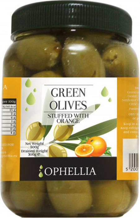 Овощные консервы Ophellia Оливки зеленые фаршированные апельсином, 500 г мини батут складной кмс 54 диаметр 138 см зеленые