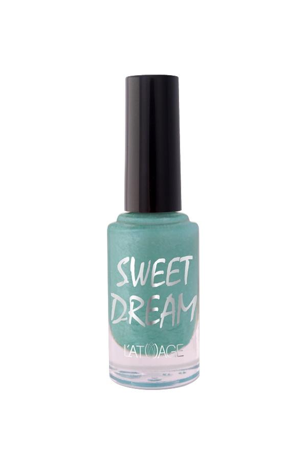 Лак для ногтей Latuage Cosmetic SWEET DREAM тон 504 бирюзовый перламутровый песок 8,5
