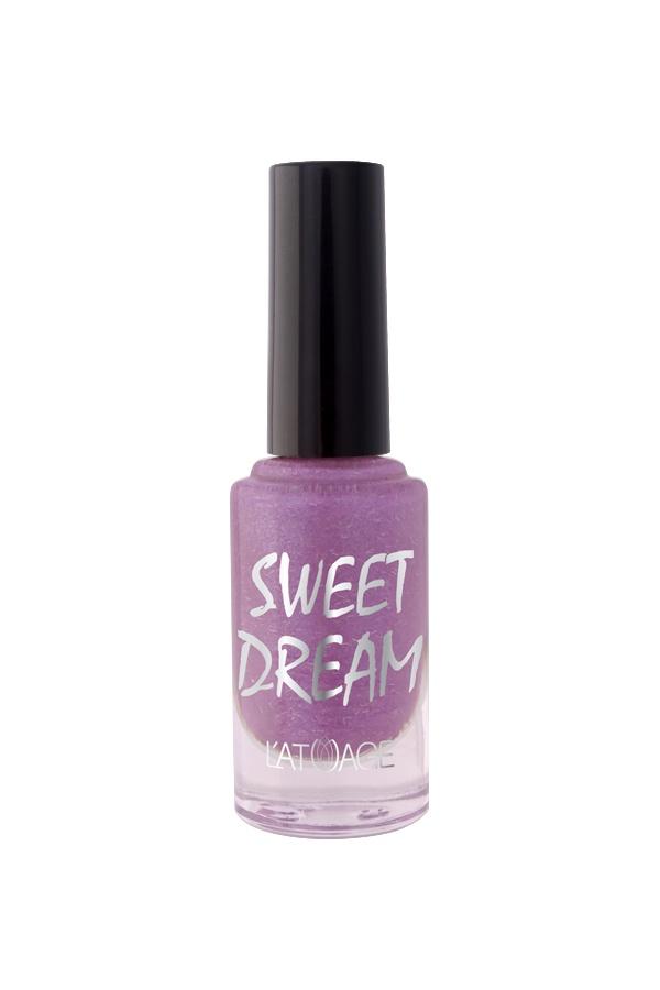 Лак для ногтей Latuage Cosmetic SWEET DREAM тон 505 сиреневый перламутровый песок 8,5
