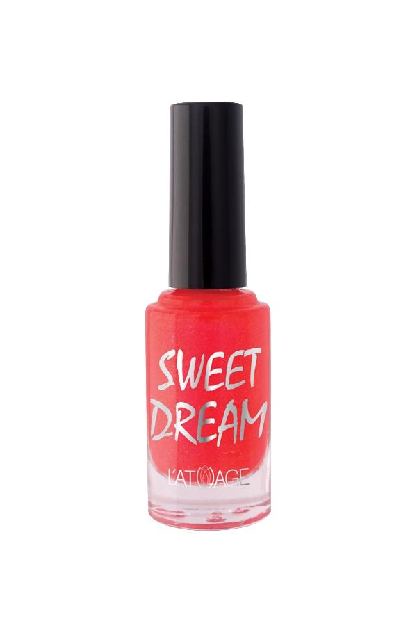 Лак для ногтей Latuage Cosmetic SWEET DREAM тон 511 нежно красный перламутровый песок