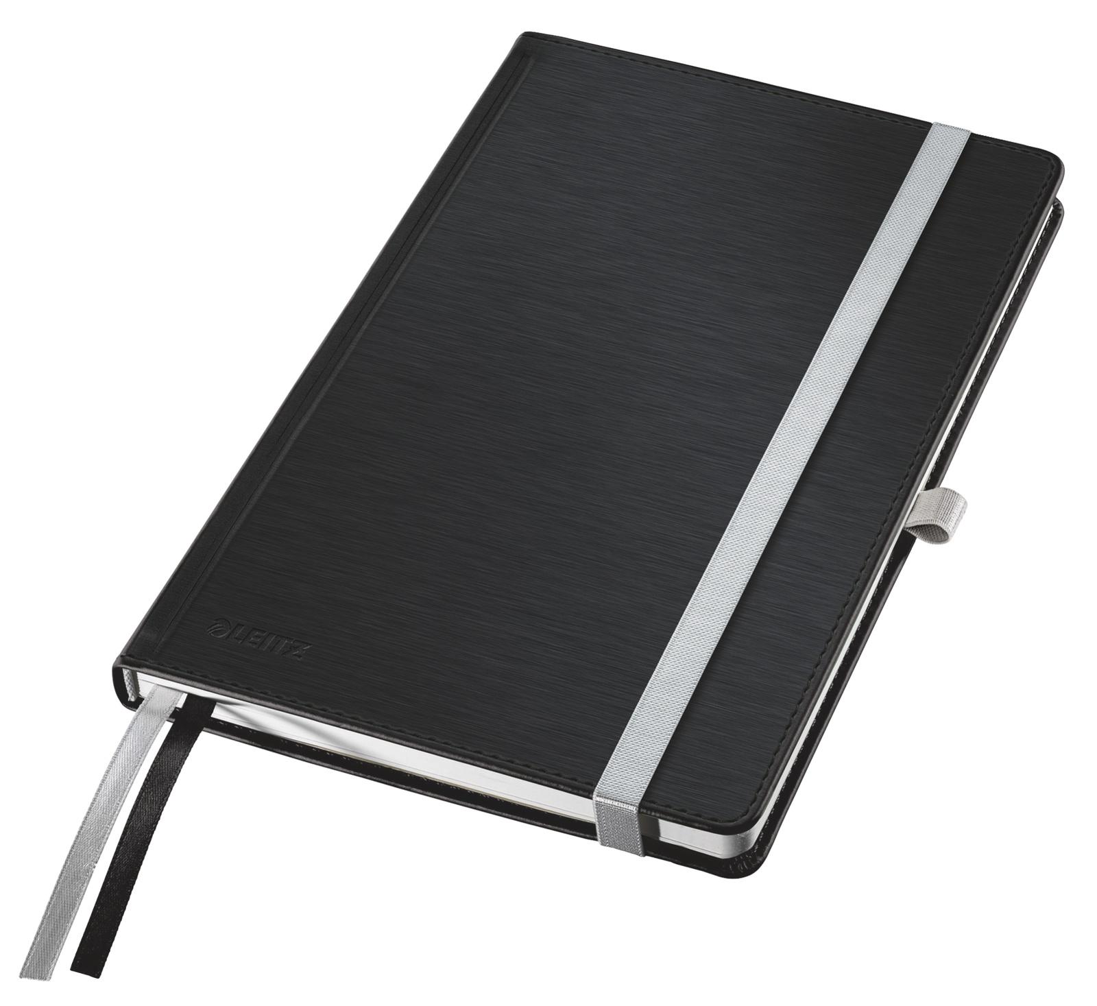 Записная книжка Leitz Записная книга Style, А5, клетка, черный сталь, 80