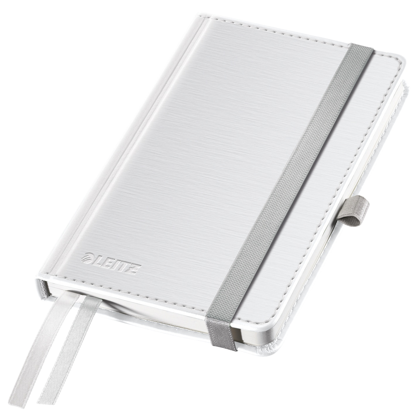 Записная книжка Leitz Записная книга Style, А6, клетка, белая сталь, 80