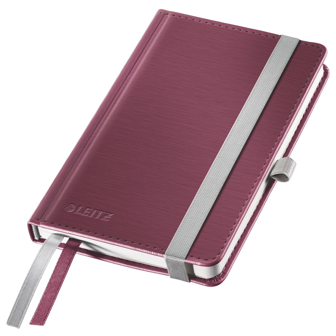 Записная книжка Leitz Записная книга Style, А6, клетка, красный гранат, 80