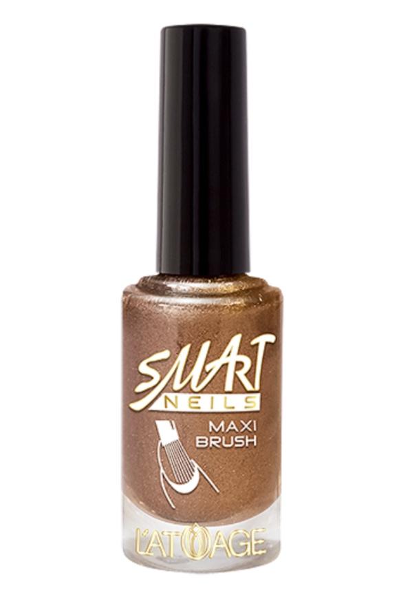 Лак для ногтей Latuage Cosmetic likе GLASS effect тон 315 бронзово блестящий сатин 8