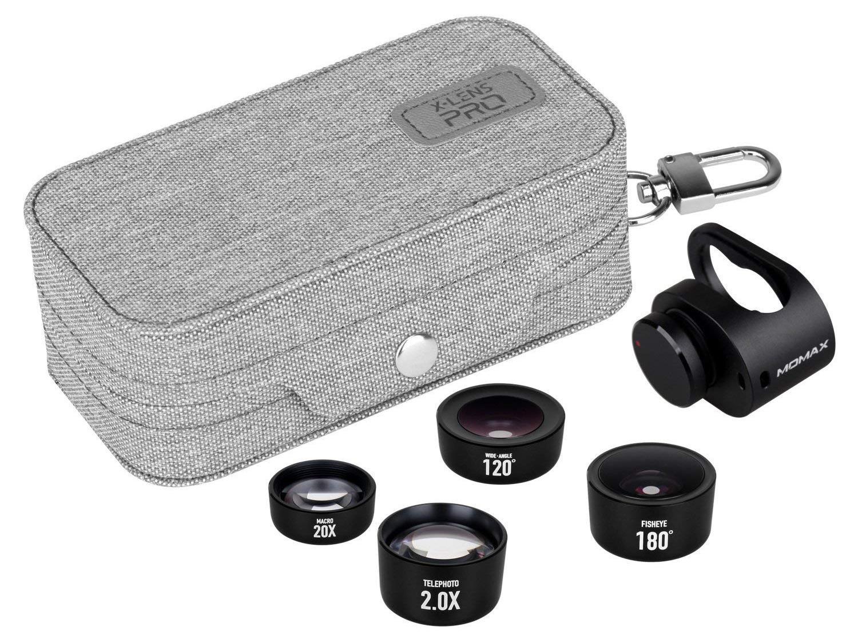 Фото - Объектив Momax X-LENS PRO 4 IN 1 Premium Lens Kit, черный линза