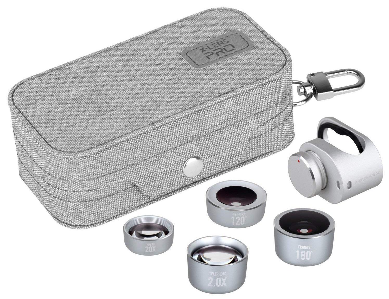 Фото - Объектив Momax X-LENS PRO 4 IN 1 Premium Lens Kit, серебристый линза