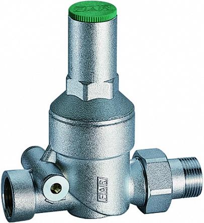 Редуктор давления FAR Редуктор хром. 1/2 (ВР-НР), без манометра, серый металлик компенсатор гидроударов far 1 2 10 50 бар