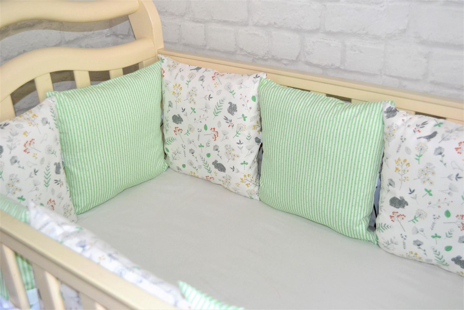 """Комплект в кроватку """"Весна"""", светло-зеленый"""
