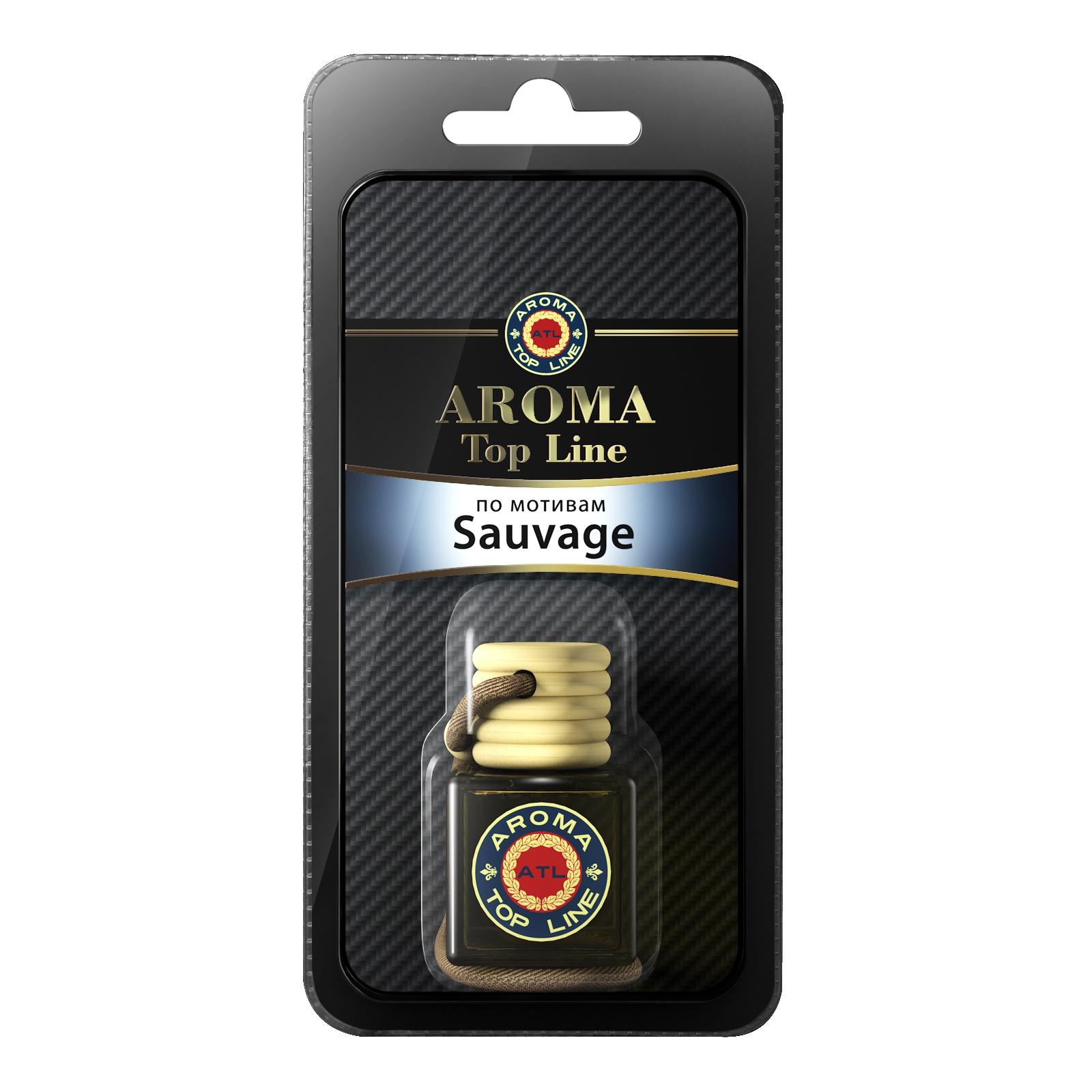 Автомобильный ароматизатор AROMA TOP LINE М17ф 55 Флакон ст. 6ml Savuage автомобильный ароматизатор golden snail aroma football ванильный крем