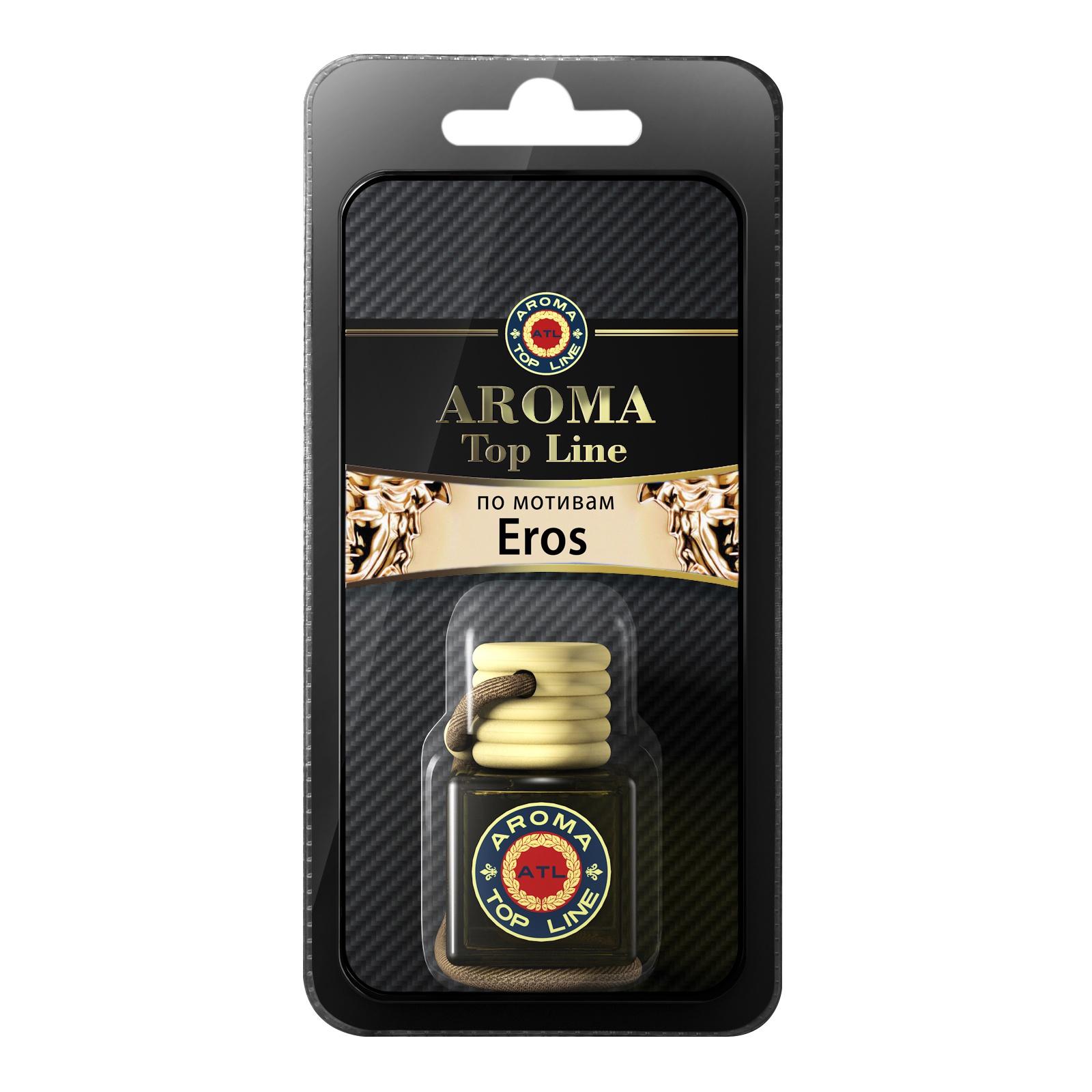Автомобильный ароматизатор AROMA TOP LINE Ж07ф 34 Флакон 6ml Versace Eros woman автомобильный ароматизатор golden snail aroma football ванильный крем