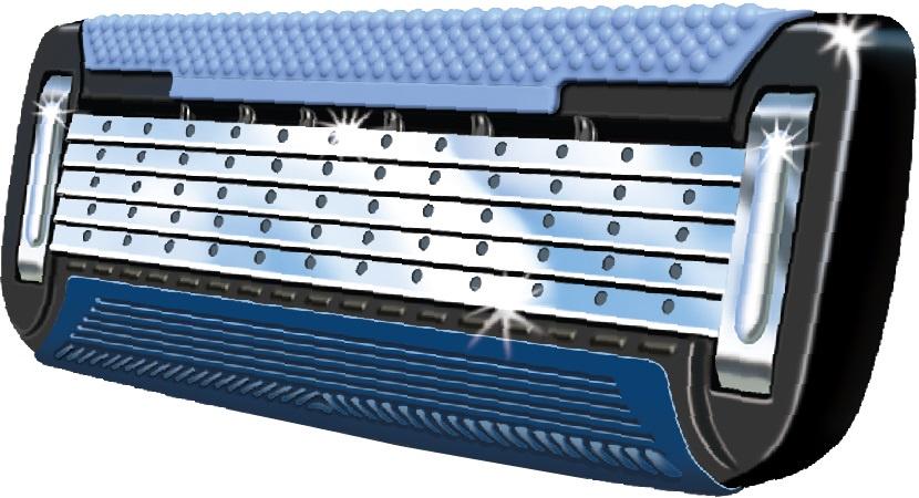 Сменные кассеты для бритья Deonica 5 тонких лезвий с керамическим покрытием США for MEN 2 шт