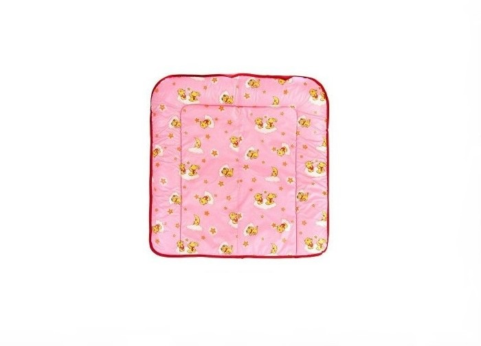 Доска пеленальная Фея мягкая на комод (розовый)