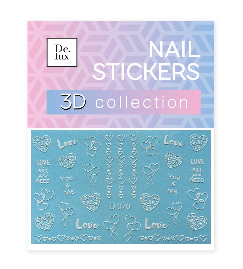 Наклейки для ногтей De.Lux D070