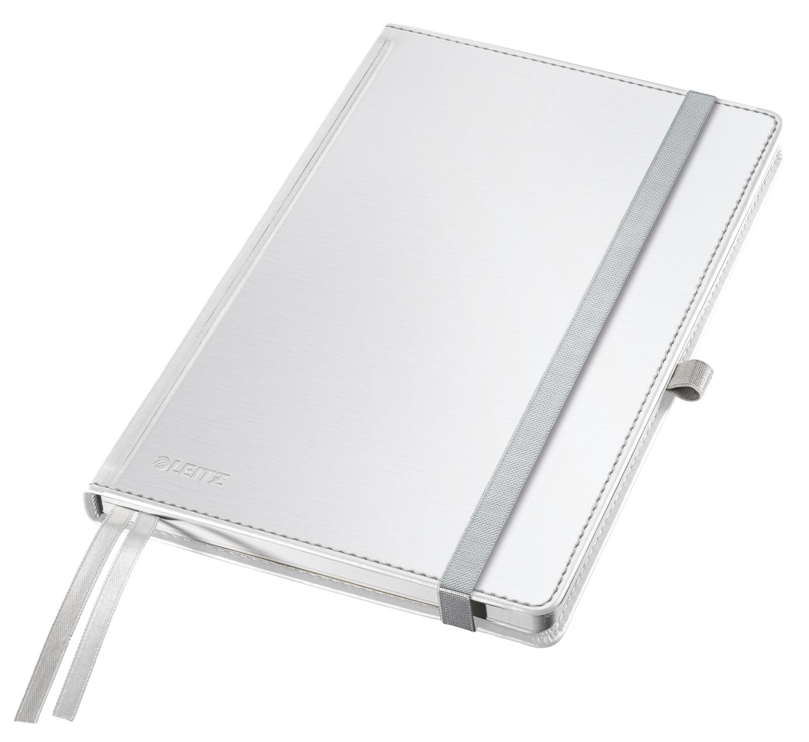 Записная книжка Leitz Записная книга Style, А5, клетка, белая сталь, 80