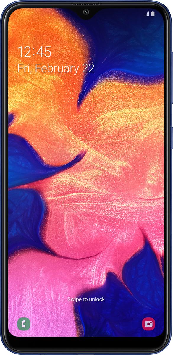 Смартфон Samsung Galaxy A10 32 GB, синий смартфон