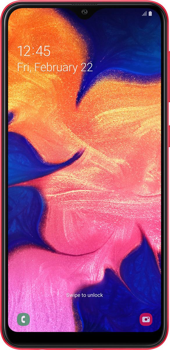 Смартфон Samsung Galaxy A10, красный смартфон