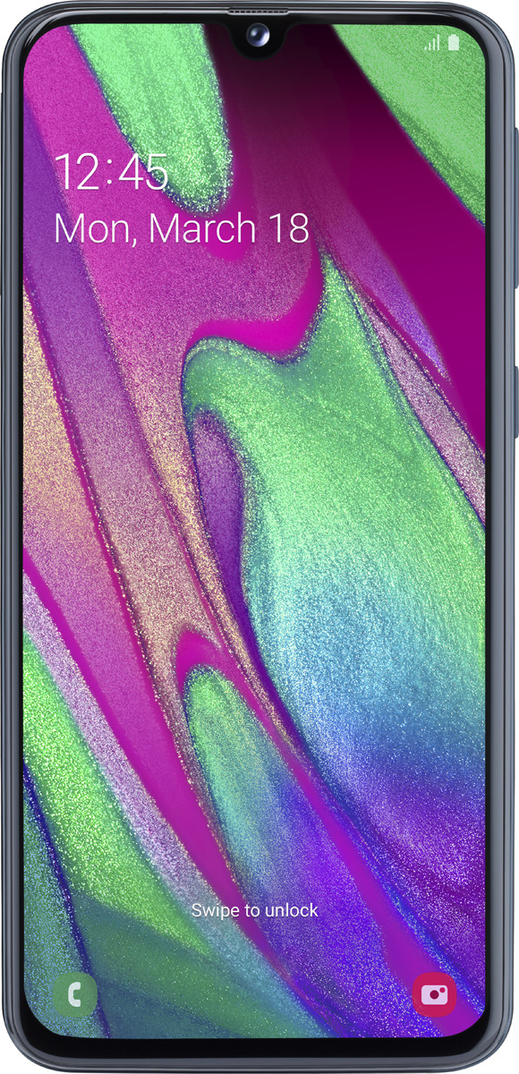 Смартфон Samsung Galaxy A40 4/64GB, черный