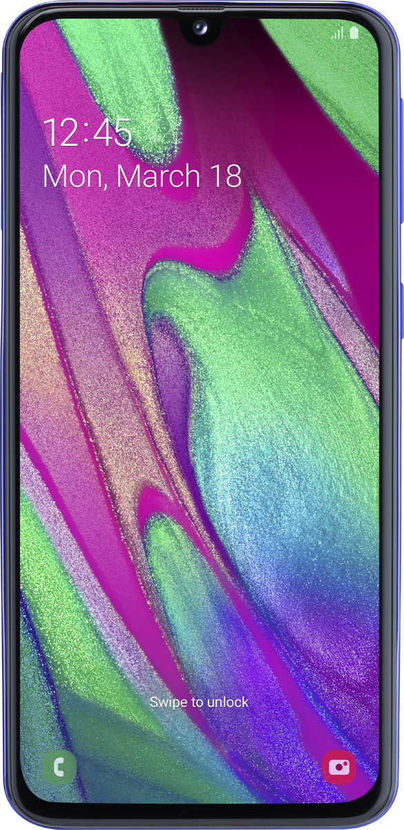 Смартфон Samsung Galaxy A40 4/64GB, синий