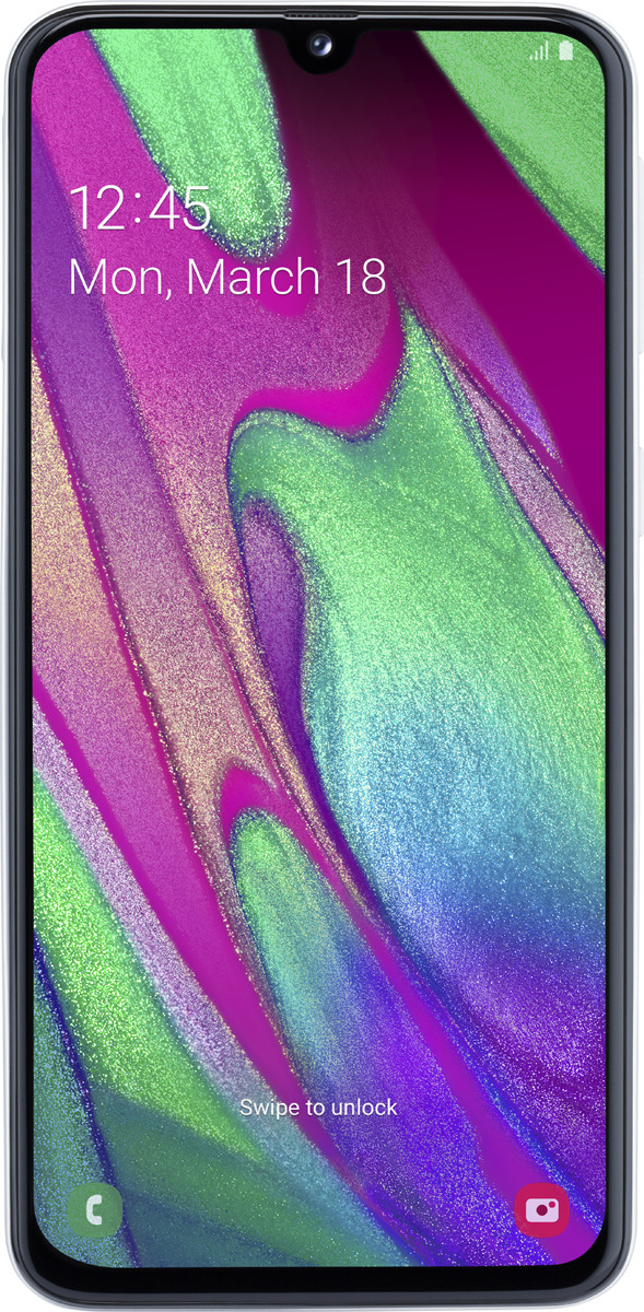 Смартфон Samsung Galaxy A40 4/64GB, белый