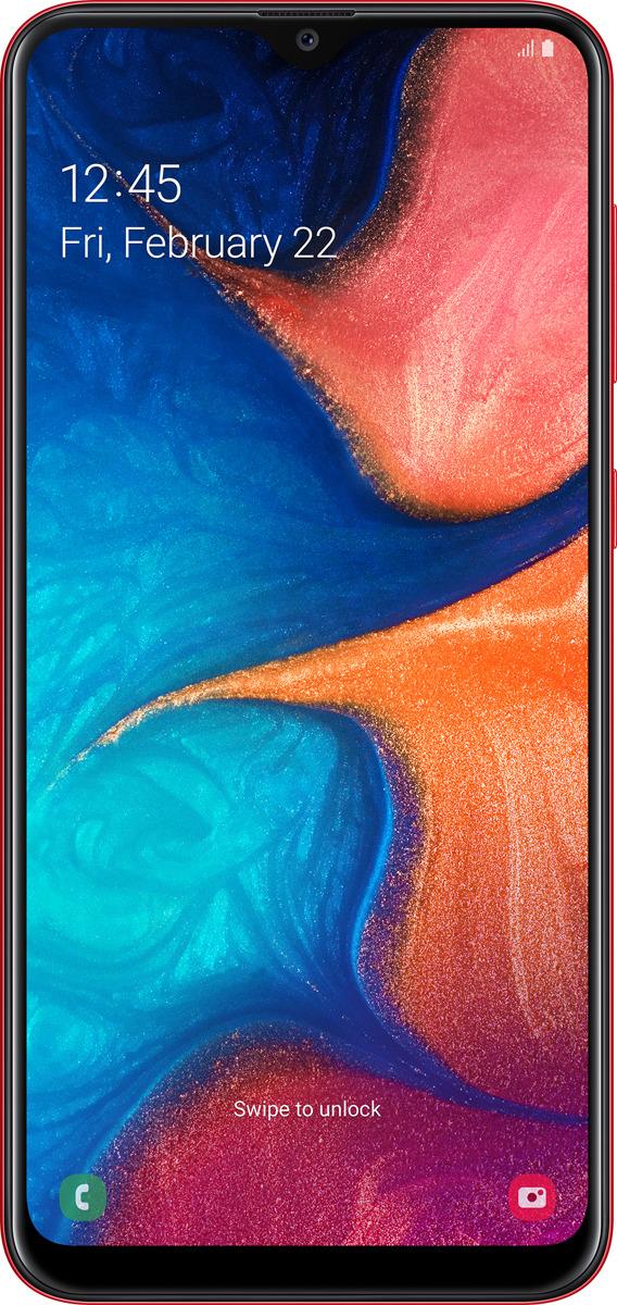 Смартфон Samsung Galaxy A20, красный
