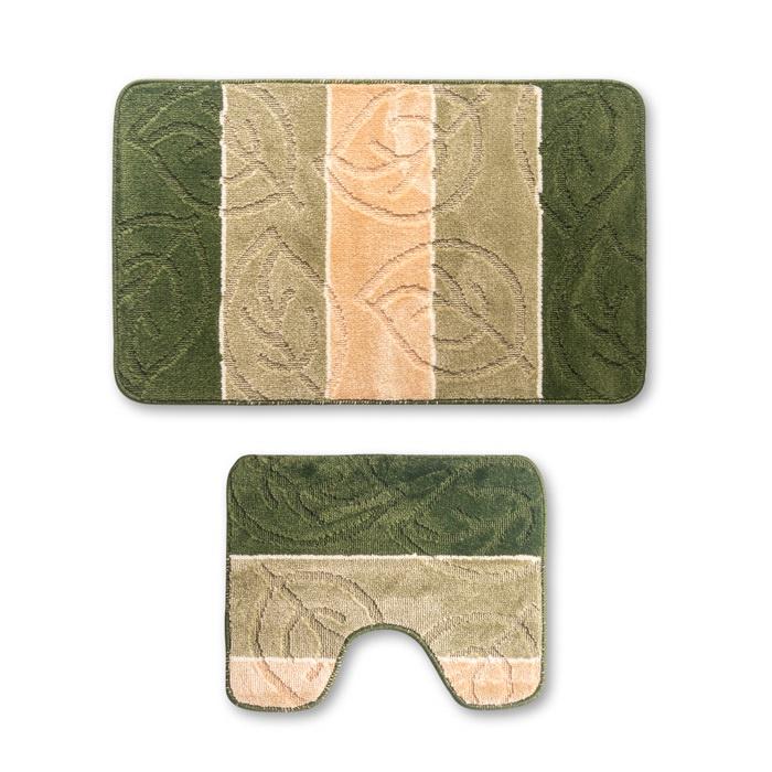 Набор ковриков для ванной Sibo TWINS 50х80 см., 50х40см., разноцветный идеи для санузла