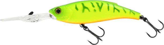 Воблер Tsuribito Deep Shaker 85F 064 Chartreuse Tiger Orange Belly, 18194 воблер tsuribito deep shaker 100f 002 длина 10 см вес 31 г 28895