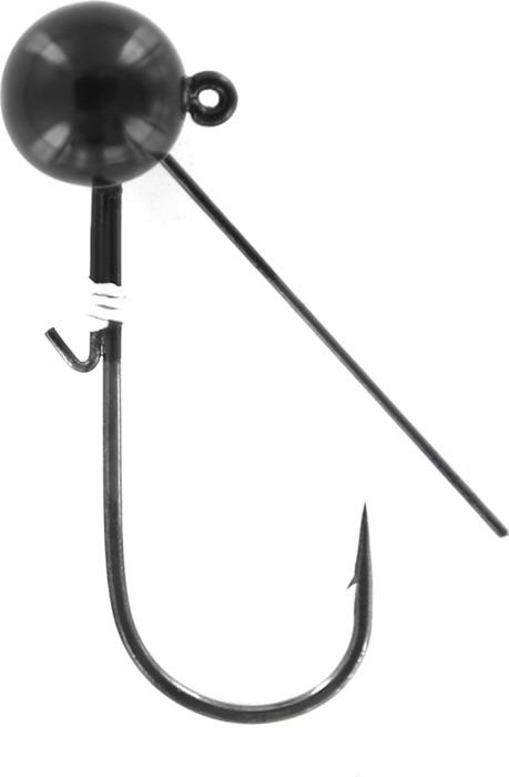 Джиг-головка Tsuribito Weedless Ball, крючок №1/0, 93594, черный, 7, 2 г, 2 шт крючок рыболовный tsuribito crystal 14 10 шт 34627
