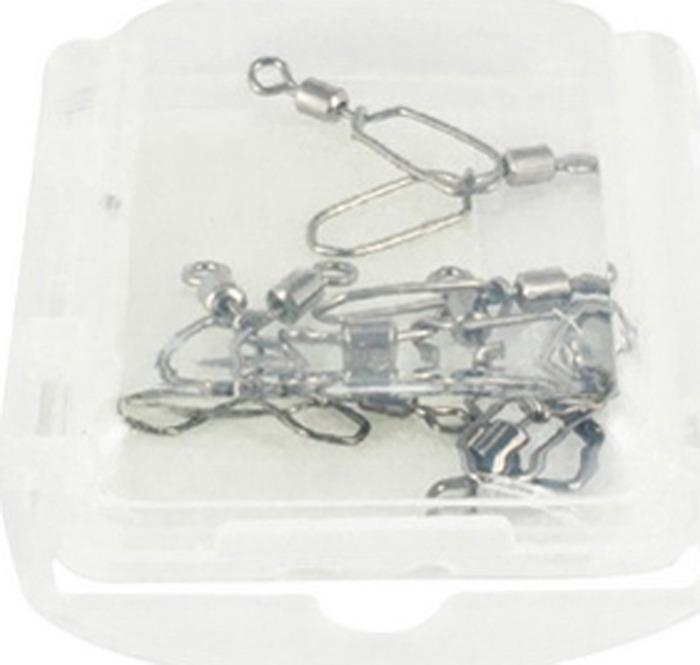 Аксессуар для рыбалки Tsuribito Карабин Rolling Swivel With New Hooked Snap №14, 23590, 10 шт крючок рыболовный tsuribito crystal 14 10 шт 34627