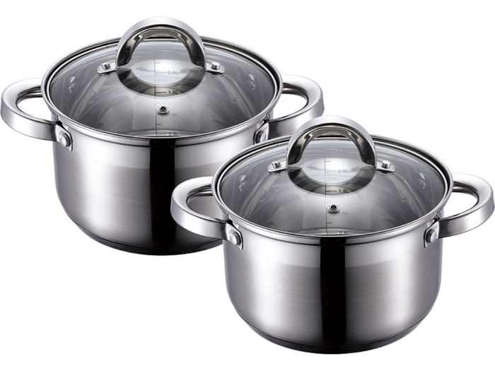 Набор посуды для приготовления Wellberg Набор кастрюль 1,98; 2,5 л