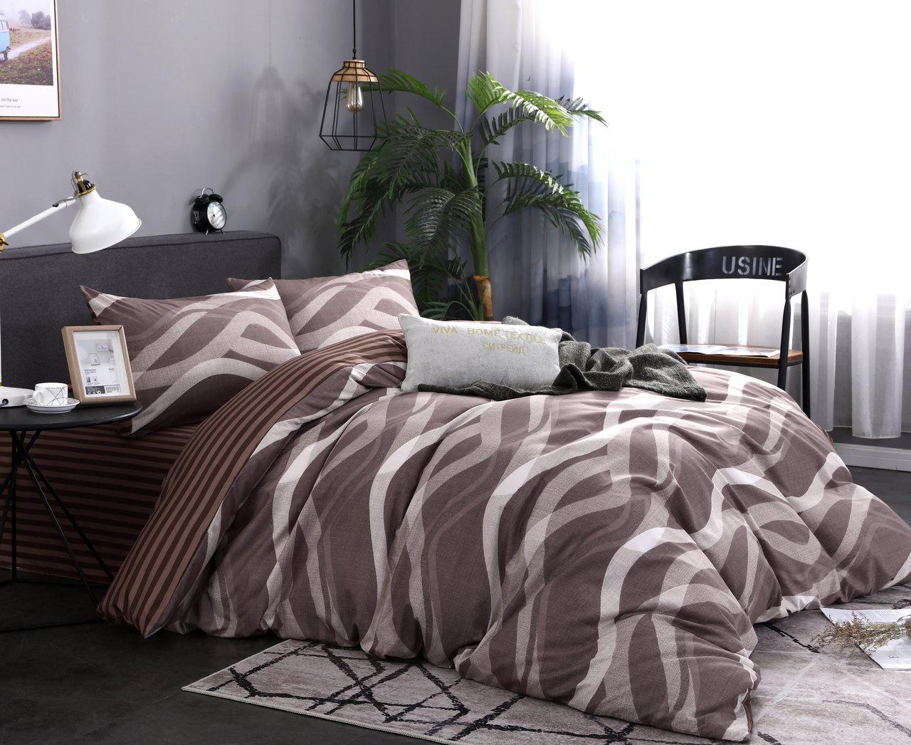 Комплект постельного белья Сатин подарочный AC061 Cитрейд 1.5 спальный, наволочки 50-70 2 шт елка канадская 150 см 342 ветки 1 шт в упаковке 2