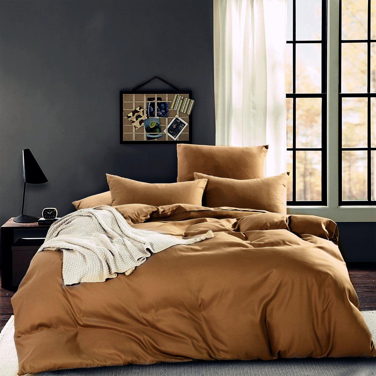 Комплект постельного белья однотонный Сатин CS005 Cитрейд 2 спальный, наволочки 70-70 шт